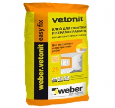 WEBER.VETONIT EASY FIX (25кг.) КЛЕЙ ДЛЯ ПЛИТКИ И КЕРАМОГРАНИТА